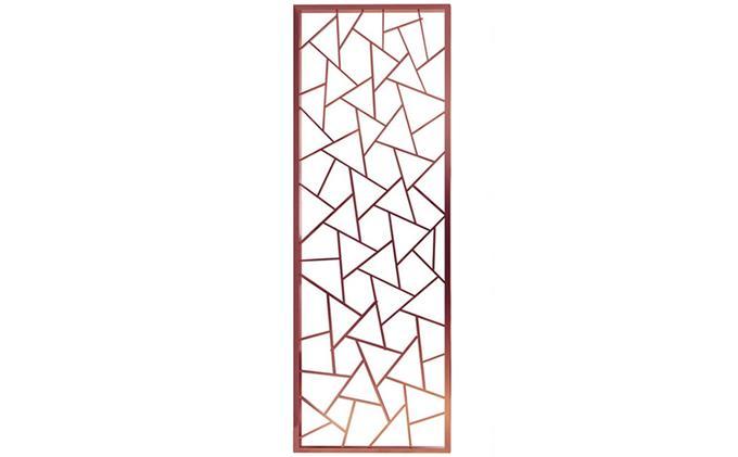 玫瑰金不锈钢多变形花格屏风