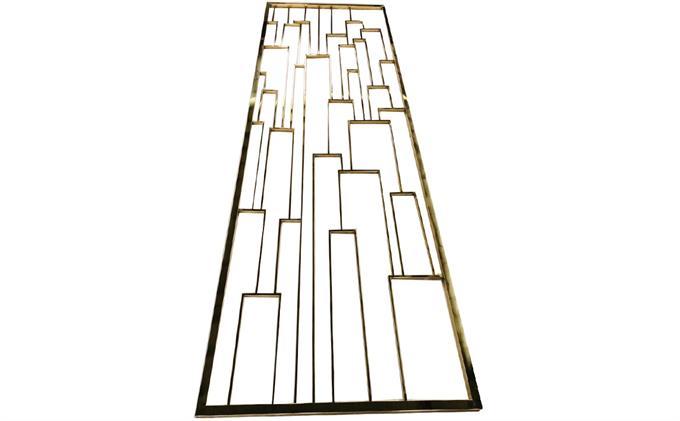 地产楼盘现代简约轻奢不锈钢隔断
